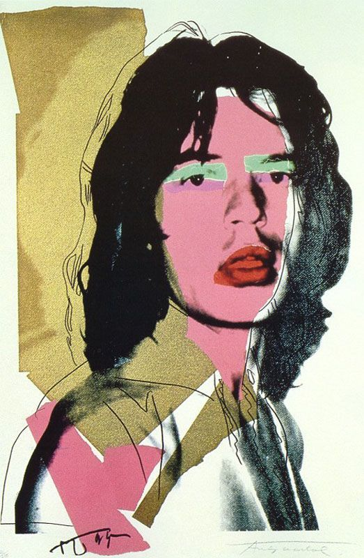Mick Jager, Andy Warhol